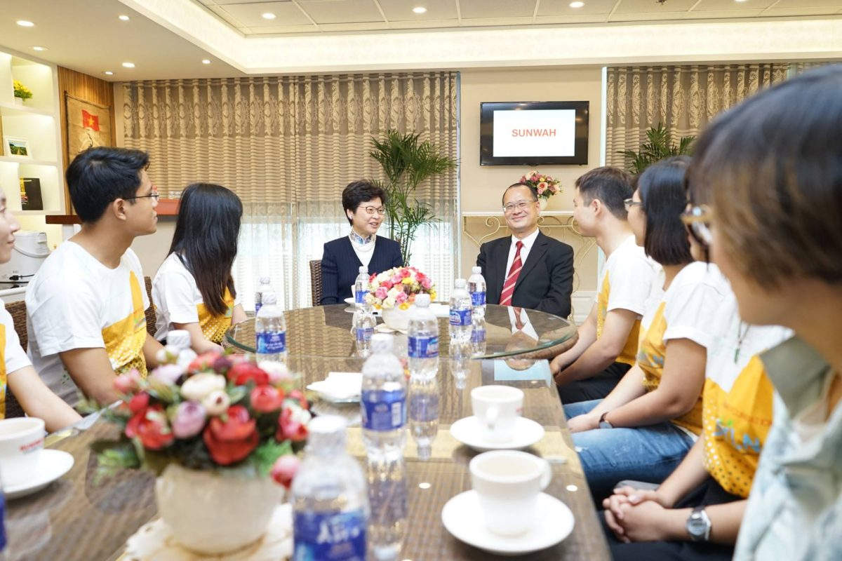 Members of Sunwah GYLN Ho Chi Minh City Chapter met with Mrs Carrie Lam, Chief Secretary for Administration of Hong Kong SAR Government